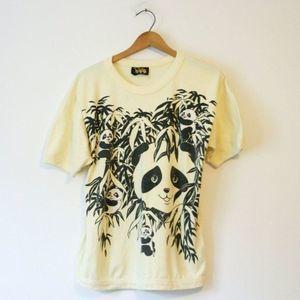 Vintage Panda Bear T Shirt